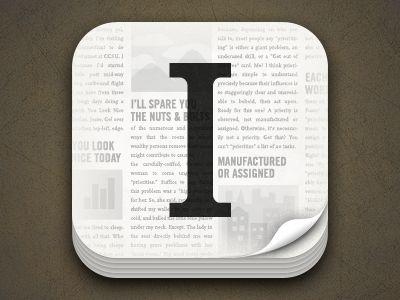 Instapaper 4 icon / Dan Cederholm