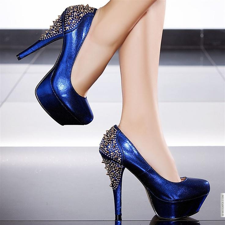 Escarpins couleur bleu, Modatoi