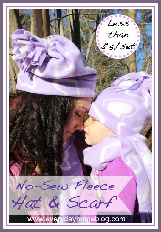 No-Sew Winter Hat and Scarf-from The Everyday Home