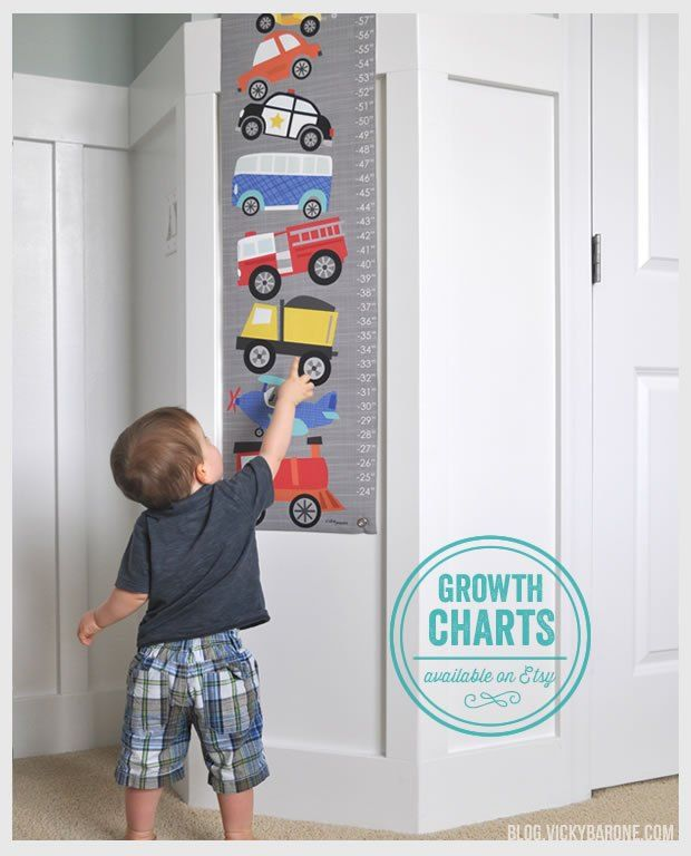 Cars and Trucks Growth Chart for your growing little ones! Great gift for back to school
