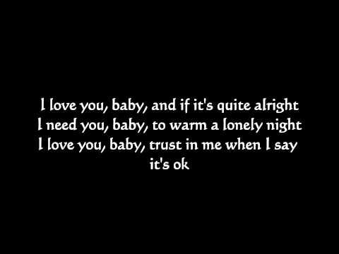 Can't take my eyes off of you (Instrumental) with lyrics