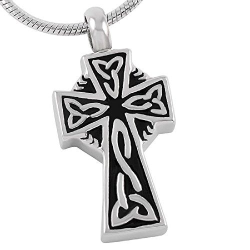Casket Etcetera CELTIC CROSS Funeral Jewelry Urn Necklace Pendant Quality. 30-Day Money Back Guarantee or Exchange High quality Stainless Steel. SAVE UP TO 30% Buying more than One? DISCOUNT COUPONS ARE DISPLAYED IN SPECIAL OFFERS. Can be Engraved. Hand crafted Urn Necklace, Cremation Jewelry, also known funeral jewelry, memorial jewelry, or remembrance jewelry is used as a remarkable way to memorialize a loved one. It is available in the form of pendants, rings, bracelets, necklaces…