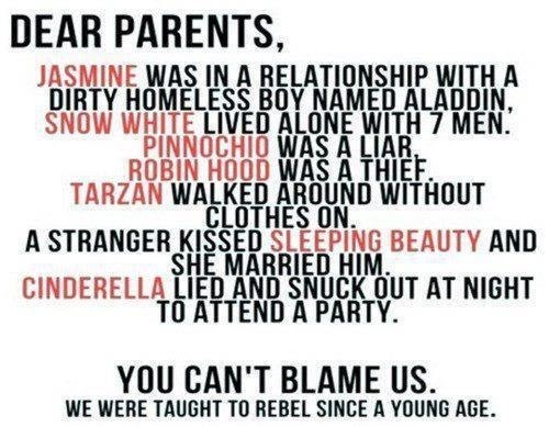 We were taught to be rebels at a young age. But i will never do any of these things