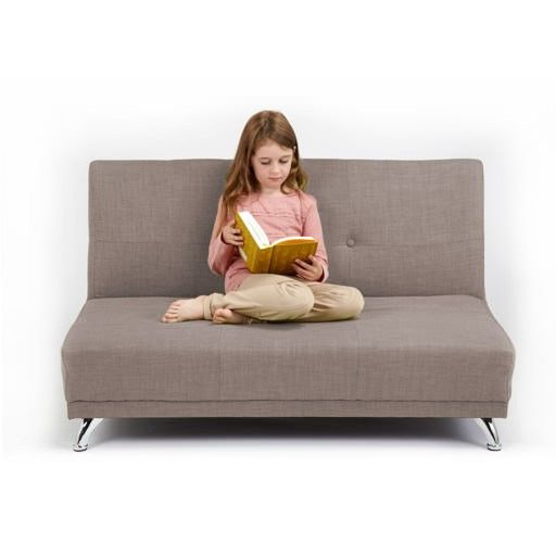 £149.97 Light Grey 2 Seater Convertible Clic Clac Childrens Sofa Bed