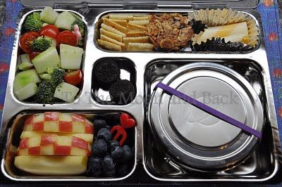 I wish this lady would pack my lunches for me, too!!! So creative! (And I love the PlanetBox lunch box she uses!)
