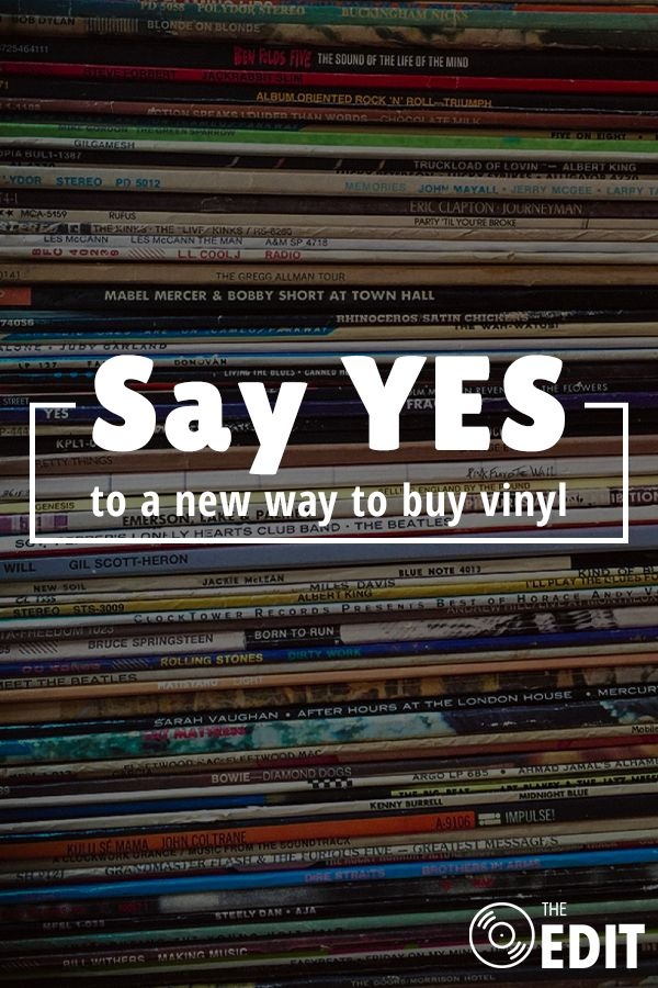 The Edit is a service developed by vinyl collectors for vinyl collectors and makes it easier to listen to the bands you love. Just sign up with your phone number to receive a daily text with the albums you love. See an album you want? Reply 'yes' and your new vinyl record will be on its way.