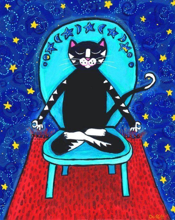 Yoga Cat, Follow your Bliss - Shelagh Duffett