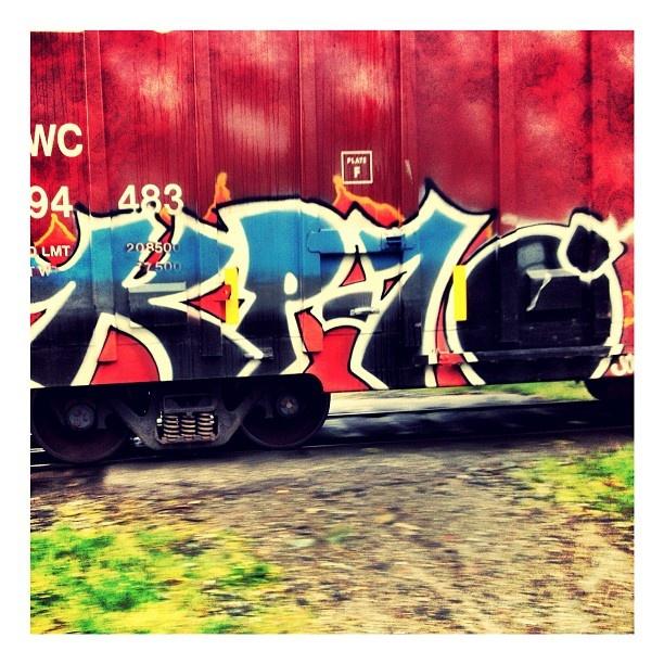The Bomb. #graffiti #movingtrain #train