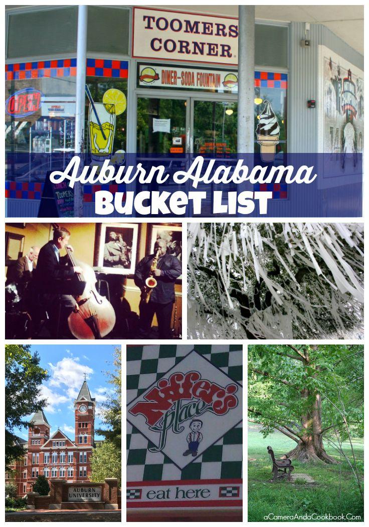 Auburn Alabama Bucket List - A Camera and A Cookbook