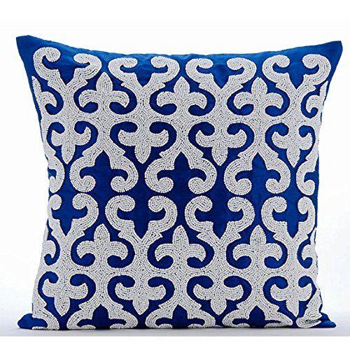Luxury Blue Throw Pillows Cover, Arabic Pattern Applique ... https://www.amazon.com/dp/B00VDDLGRO/ref=cm_sw_r_pi_dp_x_QtFdybM8KZK08