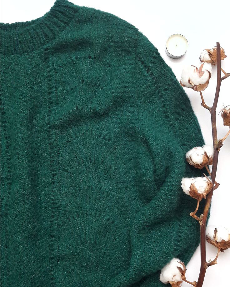 Forest green colour alpaca and silk womens sweater - green sweaters for women