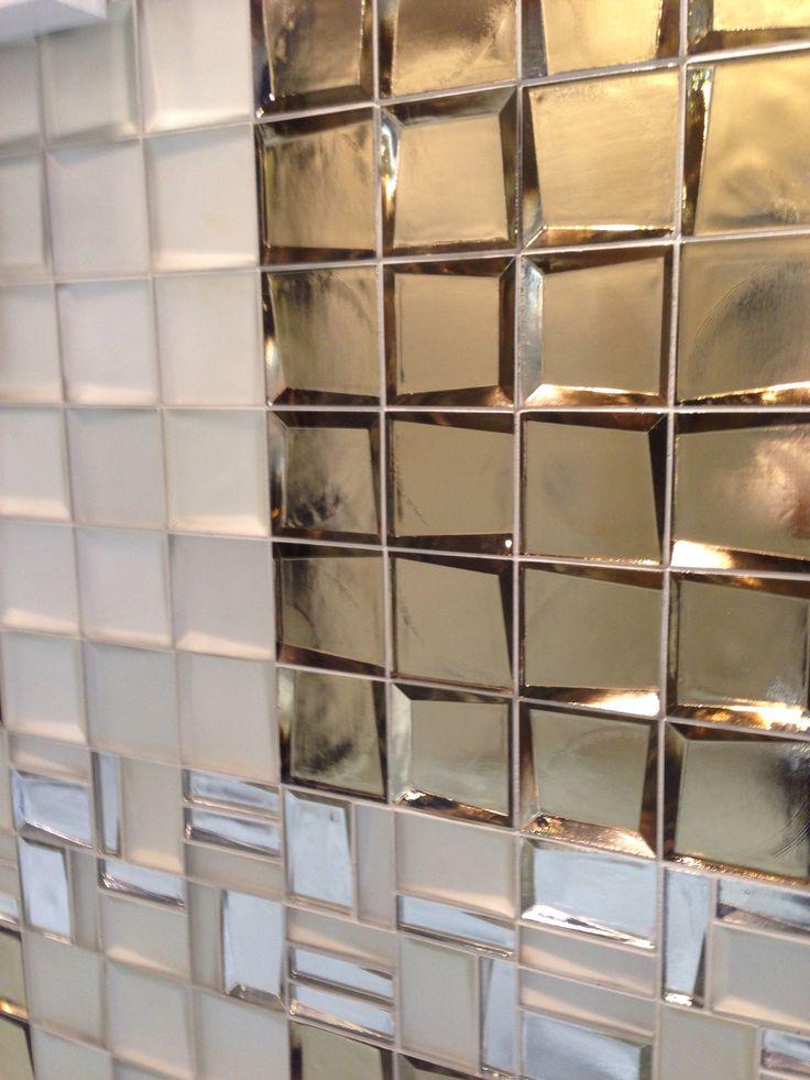Glitz & glam for a backsplash or bath ... Sideview glass ...