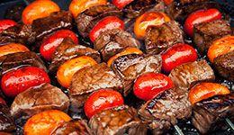 Balsamic Steak Skewers. Paleo Meat Recipe.