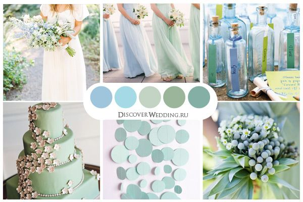 Pale Blue and Mint Wedding Palette