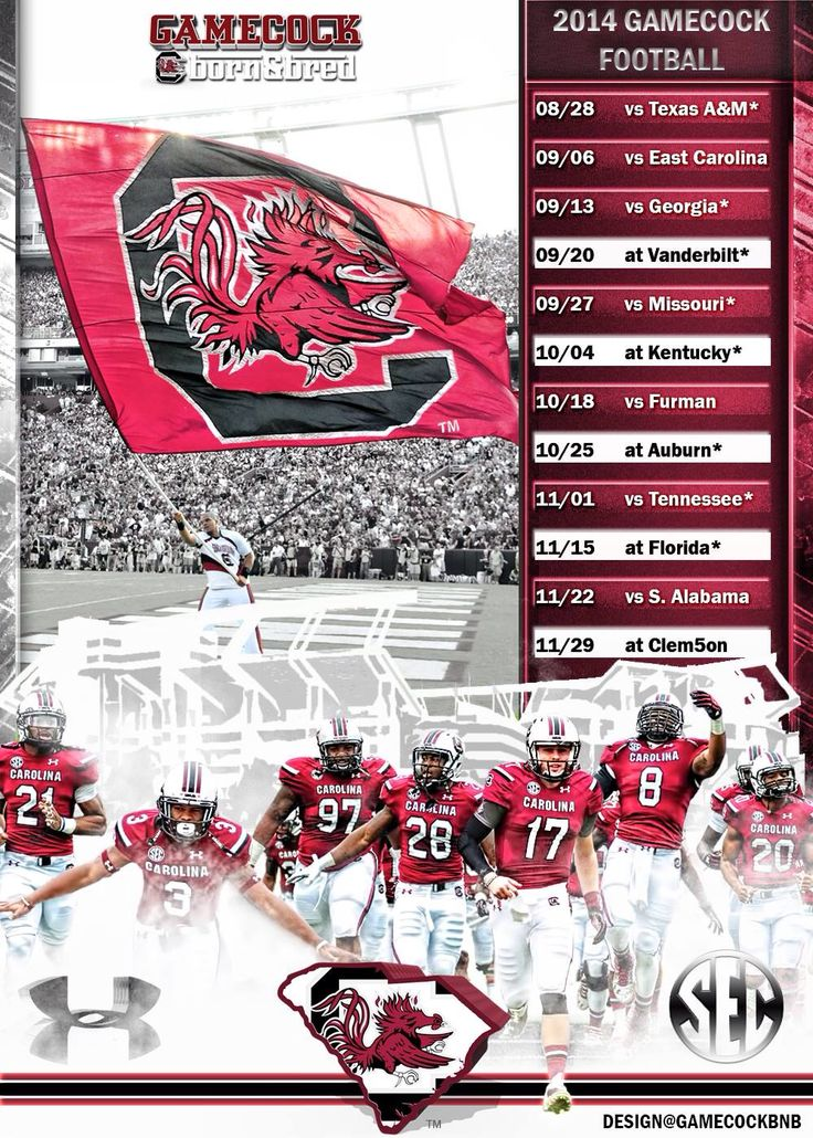 2014 Gamecock Schedule Go Cocks! lgf