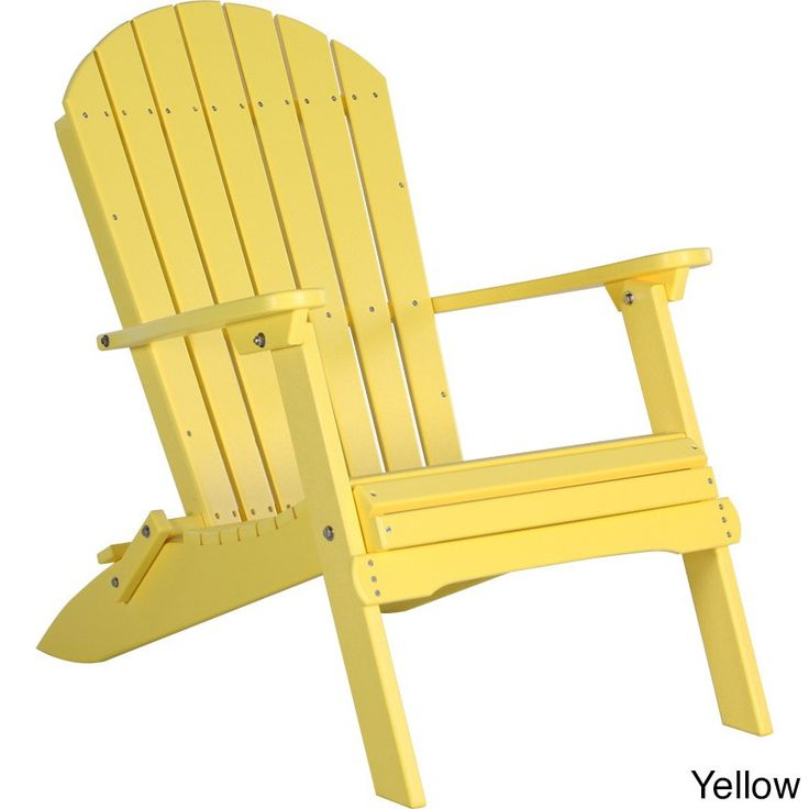 Deluxe Poly Folding Adirondack Chair , Patio Furniture
