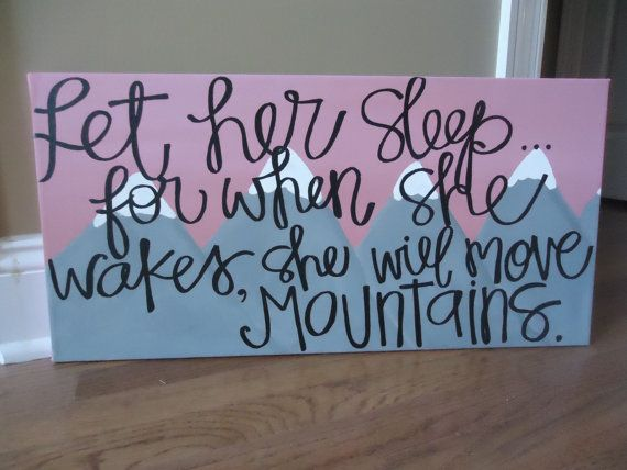 Let Her Sleep Painting on Canvas by ibelieveinkissing on Etsy