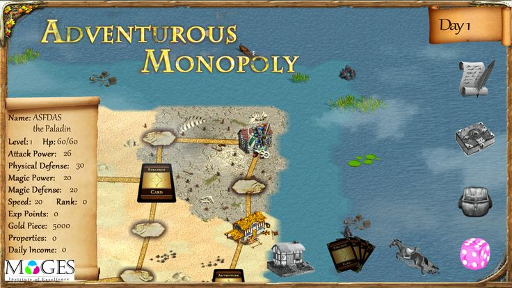 Advennturous Monopoly, An adventurous version of Monopoly game created by MAGES students.