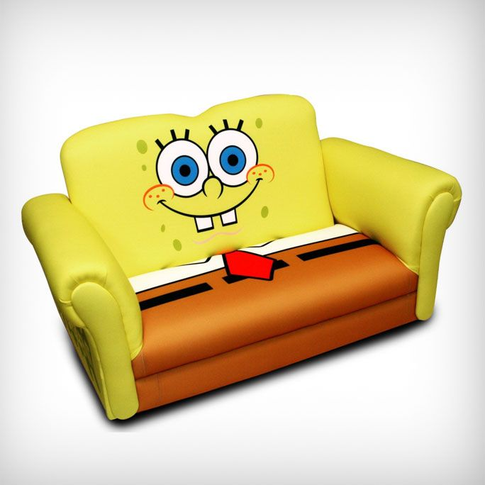 Sponge Bob Sofa Made With Digital Printing Technology. Great For The Kids!