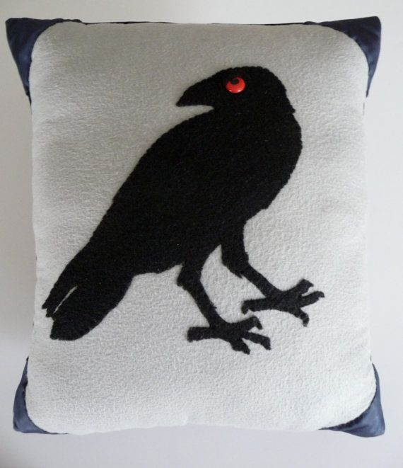 Poe Raven Pillow Edgar Allan Poe and The Raven by PLUSHITREALGOOD
