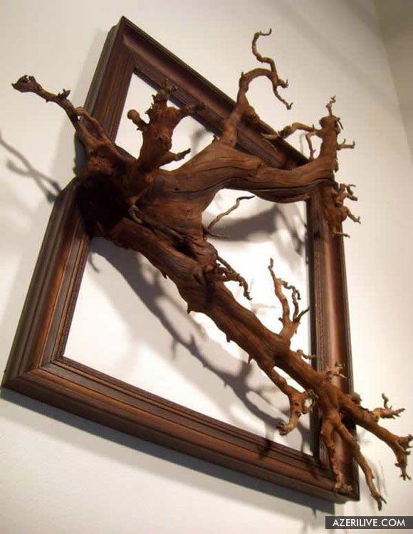 Двенадцатая расплавленная рамка для картины из дерева