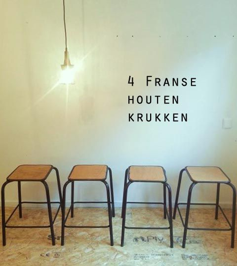 wooden stools French