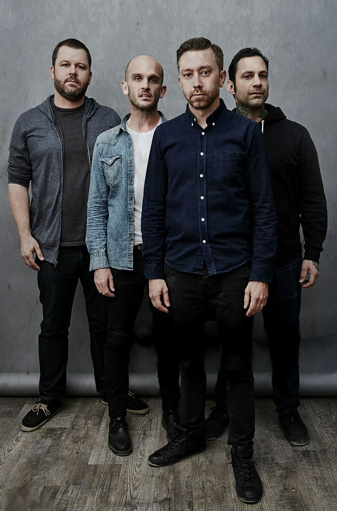 Rise Against poses for a portrait at Rock in Rio on May 08, 2015 in Las Vegas, Nevada.