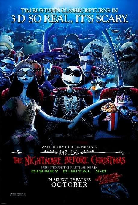 Noel Gecesi Kabusu - The Nightmare Before Christmas - 1993 - BRRip Film Afis Movie Poster