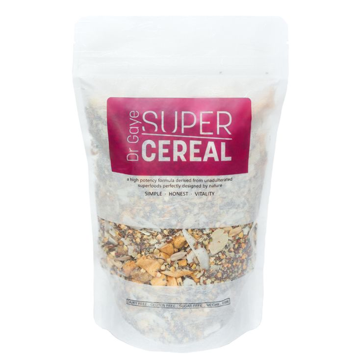 Summary Dr Gaye Super-Cereal is the optimum raw cereal which is grain free. Combining some of the most nutrient-dense ingredients, this bowl of goodness is high – OOSTOR.com