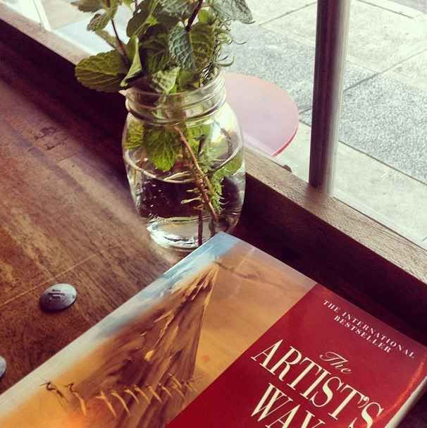 """""""Leap, and the net will appear."""" The Artist's Way , by Julia Cameron 