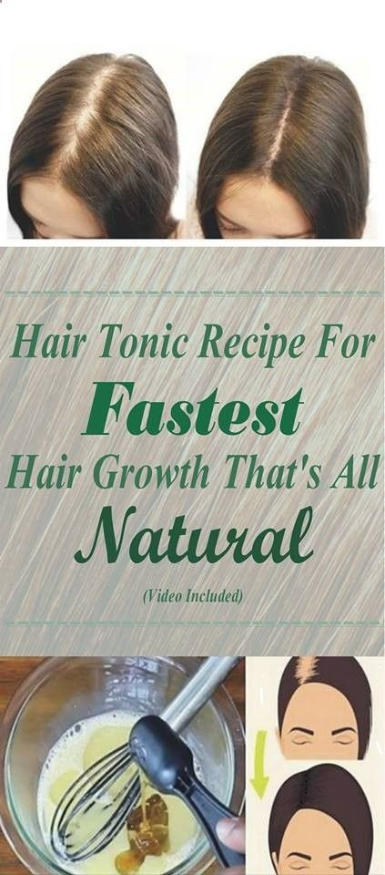 Try this Best Natural Hair Tonic - [Video] Natural Hair Tonic Recipe For Fastest Hair Growth That's All-Natural!