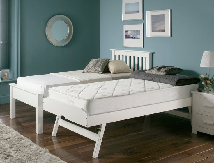 Denver Guest Bed - White - Painted Wood - Wooden Beds - Beds