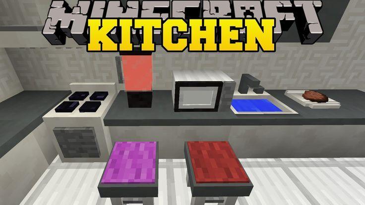 Minecraft Kitchen Mode Microwave Sprayer Blender Dishwasher More