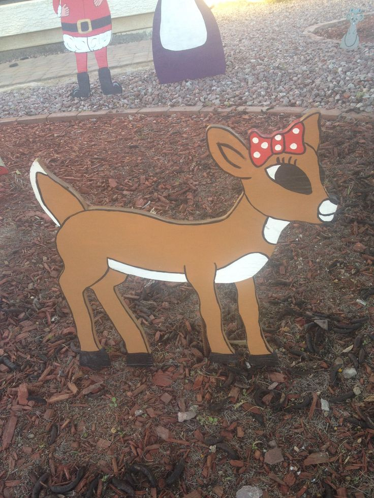 Clairice from rudoulph the red nosed reindeer christmas for Christmas reindeer decorations outdoor