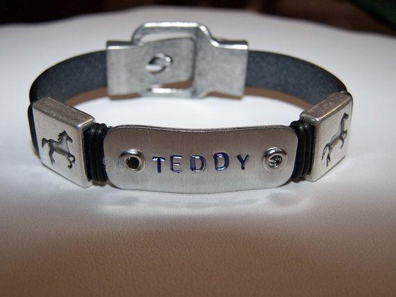 Leather bracelet Horselover bracelet by beadhobby on Etsy, $26.00