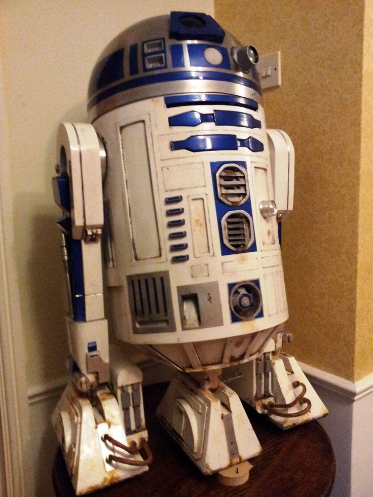 16 best r2d2 build images on pinterest r2 d2 star wars and robots - Robot blanc star wars ...