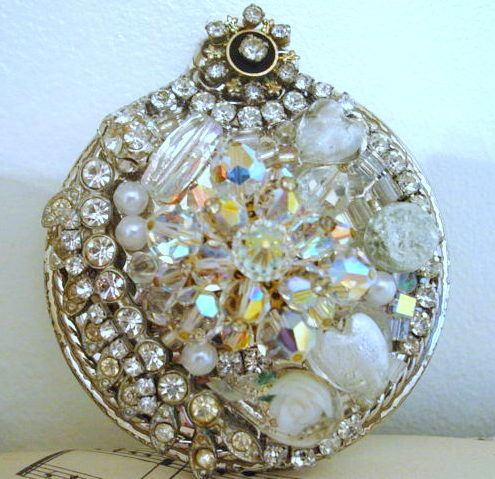 mosaic made from old jewelry and china