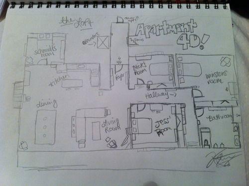 plan apartment new girl