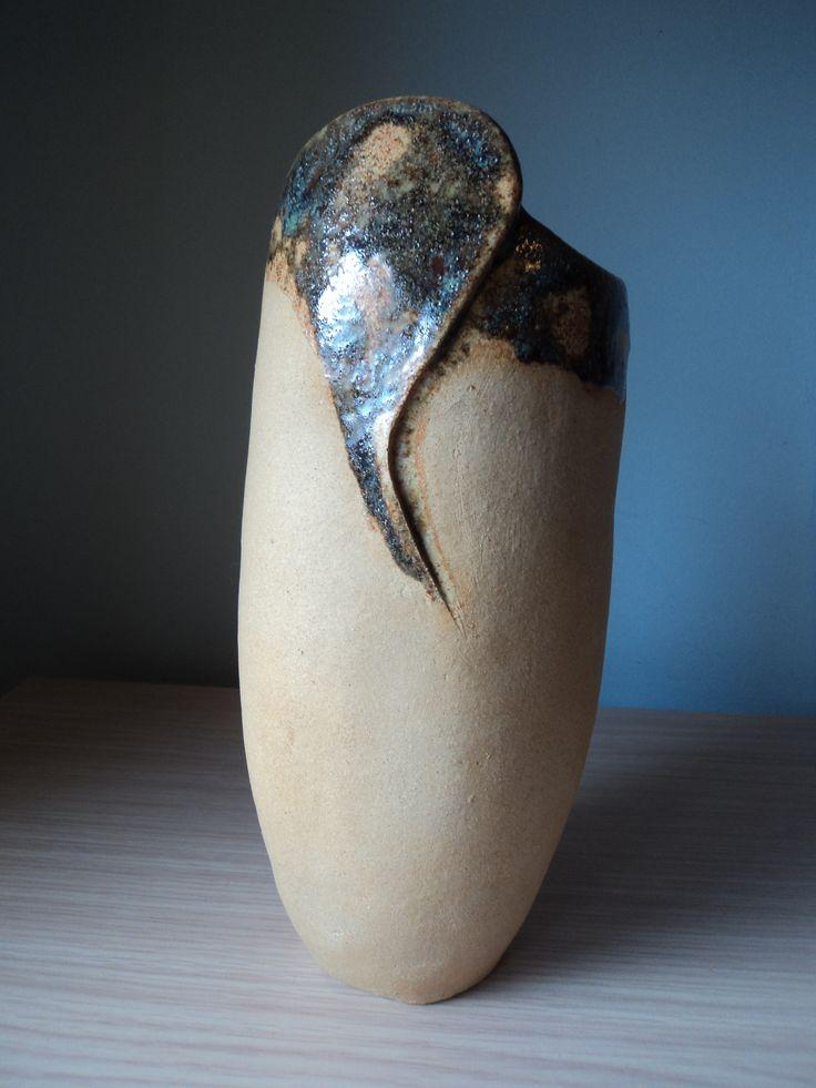 Jarr n realizado en gres con esmalte verde cer mica Esmalte para ceramica