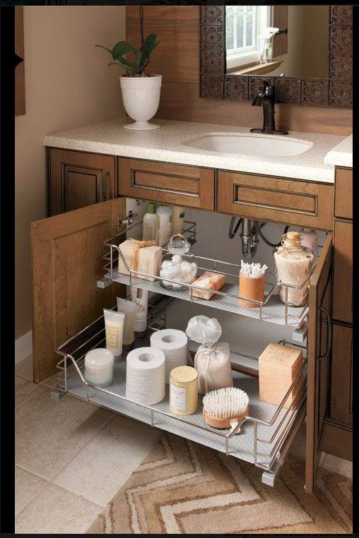 Everyone that knows me, knows that I love to be organized! I came across this bathroom photo with under sink storage and made me wonder - How do you org... - Adam Bevins - Google+
