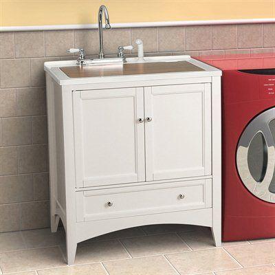 Foremost Groups BEWA3021D Berkshire 30-in Laundry Sink Vanity ATG ...