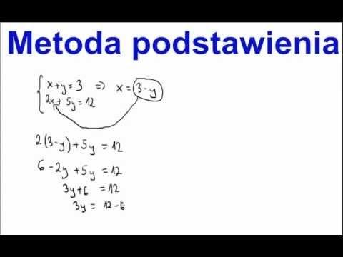 Rózwiązywanie układu równań metodą podstawienia