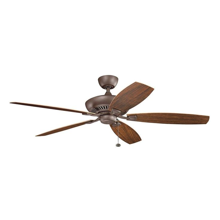 Kichler Lighting Canfield Collection 60 Inch Tannery Bronze Powder Coat  Ceiling Fan (Steel)