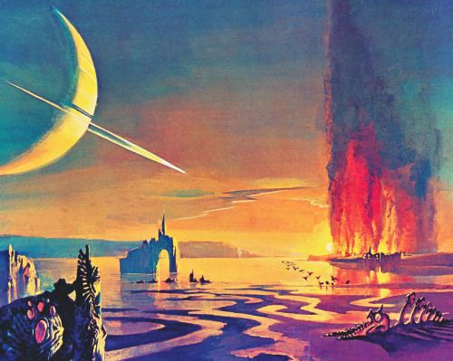 retroscifiart:Bruce Pennington - The Marshes of Titan from...