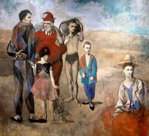 Pablo Picasso. Familia de saltimbanquis