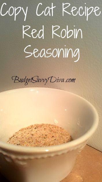 Copy Cat Recipe – Red Robin Seasoning