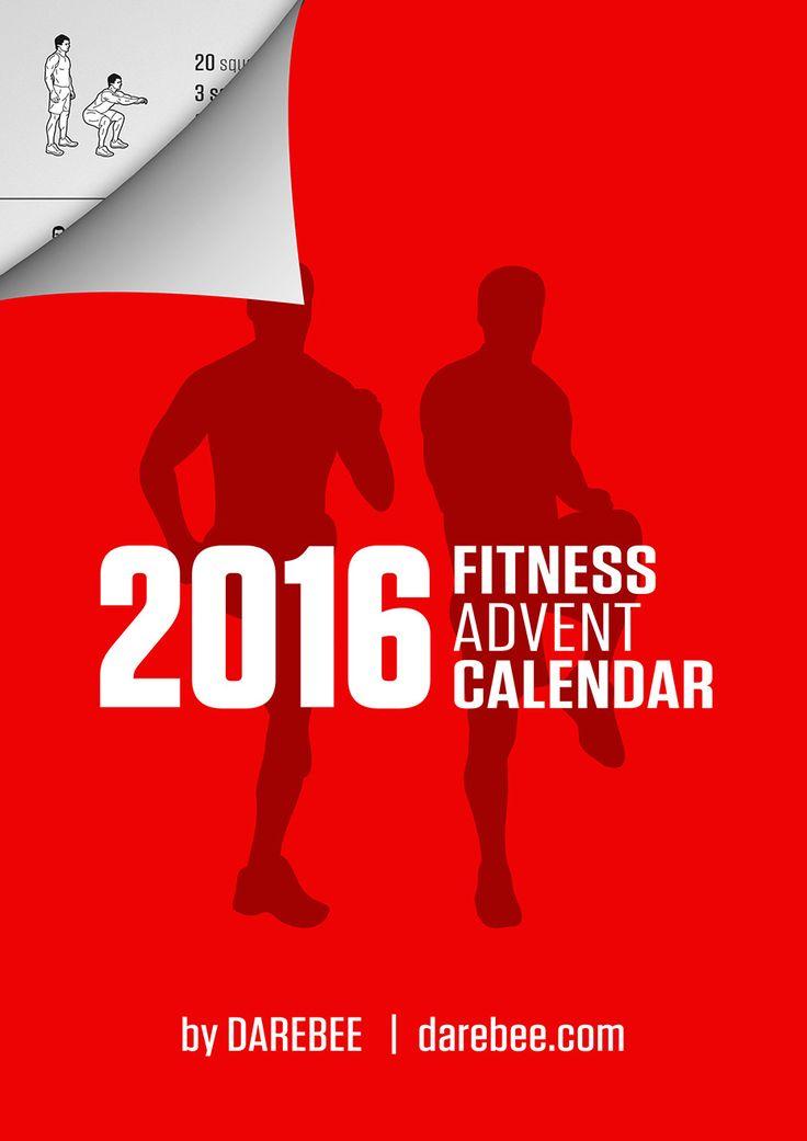 Interactive Fitness Advent Calendar 2016 by DAREBEE