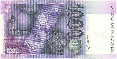Platidla SR (1993-2008) - Papírová platidla, bankovky