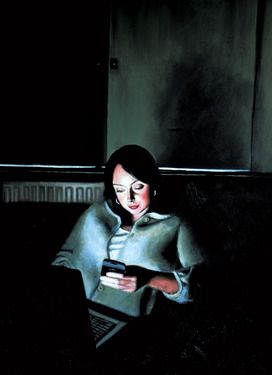 Matthew Hickey; Painting, Screen Time: Sarah 2 #art