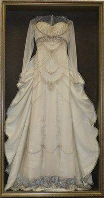 floralkeepsakescom frames wedding dresses someday when we have some spare - Dress Frame